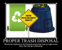 Proper Trash Disposal