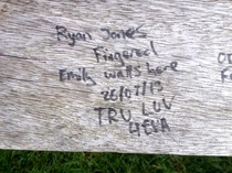 Proving romance isnt dead in Bristol  Seen on a bench overlooking the Clifton Suspension Bridge