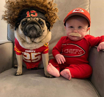 Pugtrick Mahomes and Candy Reid