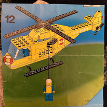 Pulled out an ancient set of Lego instructions to build a helicopter with my sonthe last page took quite a dark turn