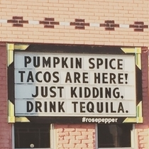 Pumpkin Spice Tacos Are Here