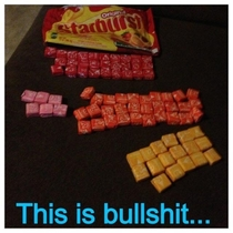 Purchased a big bag of starburst