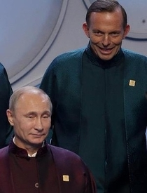 Putin and the PM of Australia at APEC yesterday look like Star Trek villains