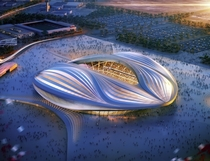 Qatar builds accidental vagina stadium for world cup