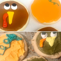 Quirky Cute Thanksgiving Cookies