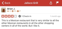 Quite possibly the most honest yelp review ever It was enough to convince me though