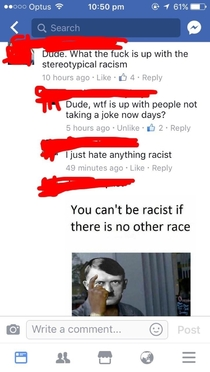 Racism is no joke