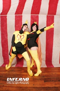 Ran my photo booth last night These two won the costume contest