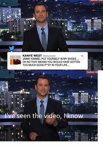 Rap Feud Kanye West and Jimmy Kimmel