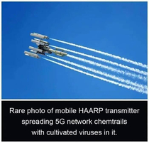 Rare photo of mobile HAARP transmitter spreading g network chemtrails with cultivated viruses in it