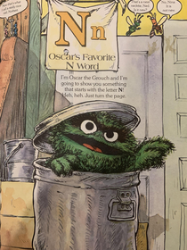 Reading my wifes old Sesame Street books to my six year old and