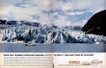 Real ad for an oil company from  The times were sure different