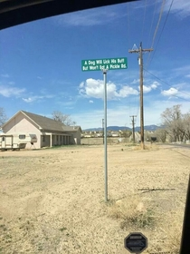 Real street name in Fountain CO