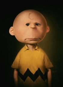 Realistic Charlie Brown Drawing Is Depressing as Hell