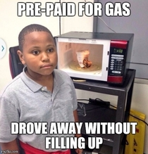 Realized once I got home and the gas light turned on