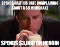 Realized this while watching Pulp Fiction last night - Scumbag Vincent Vega