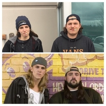 Realized today I apparently work with Jay and Silent Bob