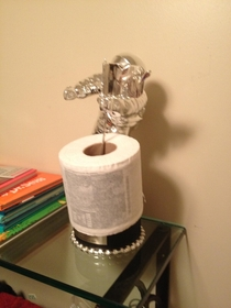 Recently went to a musicians house This was his toilet paper holder