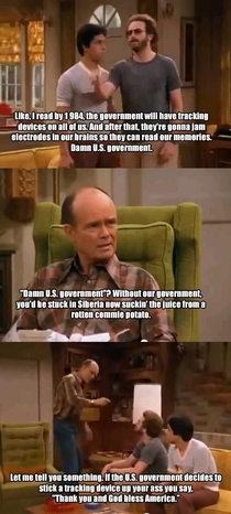 Red Forman on government surveillance