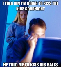 redditors wife on kissing the kids goodnight