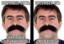 Remember Remember the end of Movember