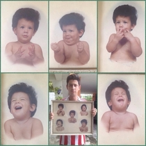 Remember the baby picture of my friend Here is him with the whole set Still same hair