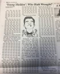 Review of Young Sheldon in the University of Rochester student newspaper
