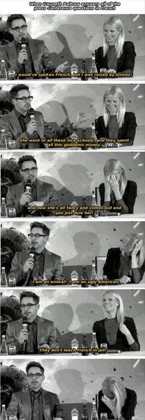Robert Downey Jr and Gwenyth Paltrow press conference
