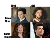 Robin Thicke is just Jason Mraz aging backwards