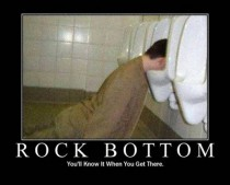 Rock bottom