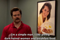 Ron Swanson is the man