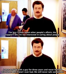 Ron Swanson might be the patron saint of introverts