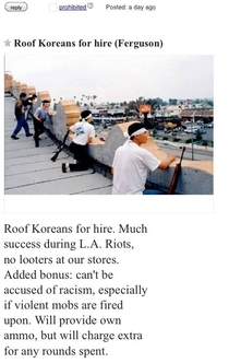 Roof Koreans for hire