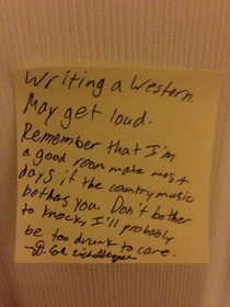 Rooming with a writer