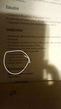Roommate didnt pay rent for April and left our house Found this resume in a box of old crap he left