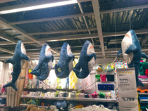 Rope jumping sharks in Tokyos IKEA