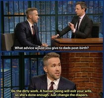 Ryan Reynolds funny and endearing take on child birth