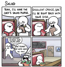 Salat for the chef