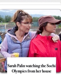 Sarah Palin must be happy the Olympics are in Sochi
