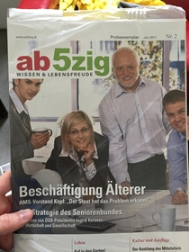 Saw a familiar face on a magazine yersterday in office
