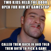 Saw a guy do this while in gamestop today Both of the kids were shocked and so happy