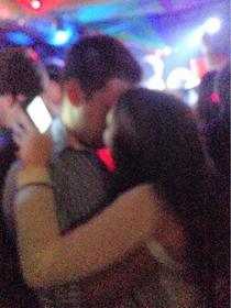 Saw this girl at the bars last night texting behind this guys back while making out