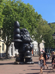 Saw this gnome in Rotterdam in the Netherlands According to Wikipedia people also like to call it the buttplug gnome