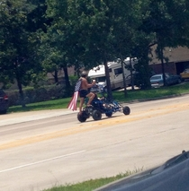 Saw this guy spreading the July th hype around town today