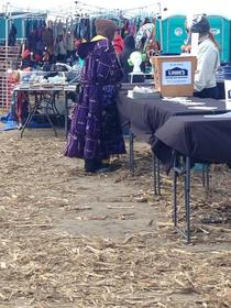Saw this lady with a robe made completely out of Crown Royal bags