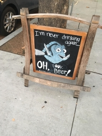Saw this on front of a local bar