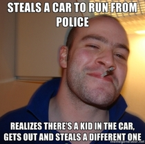 Saw this on the news this morning Good Guy Criminal