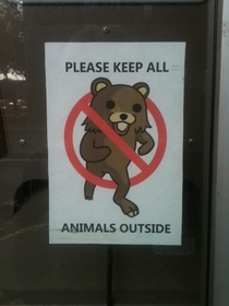 Saw this posted at a Russian store in Brooklyn Im pretty sure they dont know who that bear is