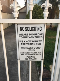 Saw this sign while walking around my neighbourhood