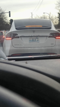 Saw this Tesla this morning in Seattle area